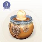 【風水球(M)】金大錢幣招財滾球(8cm黃玉球)