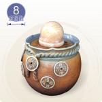 【風水球(M)】大招財五錢(台語:有錢)滾球(8cm黃玉球)