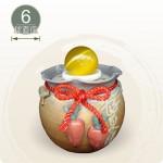 【風水球(小)】好彩頭滾球(紅)(6cm滾球)