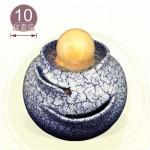 【風水球(中)】水琴滾球(小)(天目藍)(10cm滾球)