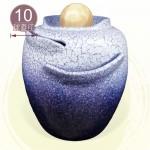 【風水球(大)】天目藍中湧泉水琴甕滾球(含求高約39公分)(10cm滾球)