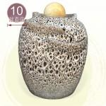 【風水球(大)】天目白中湧泉水琴甕滾球(含球高約39公分)(10cm滾球)