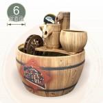【風水球(中)】仿木陶瓷木桶水車滾球(小)(6cm光球)