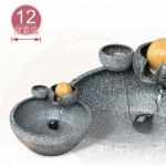 【風水球(中)】雙層岩滾球(超大)(仿青斗石)(12cm滾球)