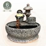 【風水球(M)】石燈水車(6cm滾球)