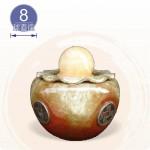 【風水球(小)】五帝平安甕滾球(8cm滾球)