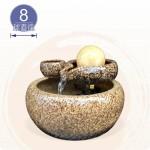 【風水球(中)】天目黃迷你雙層岩滾球(迷你)(8cm滾球)