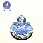 【風水球(S)彩燈】一串錢水琴(藍色)(8cm滾球)