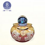 【風水球(S)彩燈】新雙貔貅水琴(紅色)(8cm滾球)