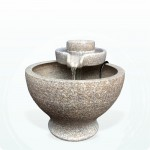 【流水】 陶藝色石磨流水(小)
