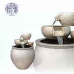 【三層流水】陶藝色(中)三層流水(甕直徑約37cm、總高50cm)