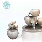【三層流水】陶藝色(小)三層流水(甕直徑約27cm、總高39cm)