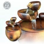 【三層流水】仿柴燒(大)三層流水(甕直徑約42cm、總高57cm)