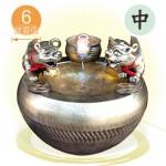 萬財歸我【(獨家)(標準)金雙貔貅+風水球(6cm)】漩渦流水