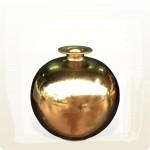 【上等】金釉無蓋小口聚寶甕(直徑約26公分)