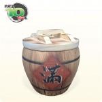 【仿木】仿木 (滿) 米甕 | 約可裝10台斤米米甕