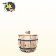 【仿木】迷你陶瓷仿木米甕 | 約可裝 300g 米