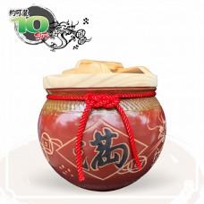 【花藝】鐵紅招財乾隆滿 (錢龍滿) 10 台斤米甕