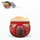 【花藝】鐵紅招財 (乾隆滿)  | 約可裝 5 台斤米寬口米甕