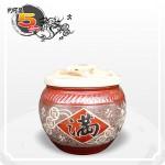 【花藝】黑石紅點招財乾隆滿(錢龍滿) 5 台斤米甕