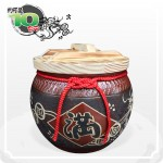 【花藝】黑石紅點招財乾隆滿(錢龍滿) 10 台斤米甕