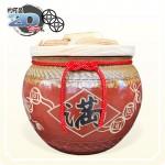 【花藝】鐵紅招財錢滿(串錢版) | 約可裝20台斤米米甕