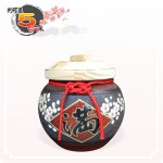 【花藝】黑石紅點招財梅花滿 | 約可裝 5 台斤米米甕