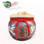 【花藝】黑石紅點招財梅花滿 | 約可裝 10 台斤米米甕