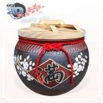 【花藝】黑石紅點招財梅花滿 | 約可裝 20 台斤米米甕