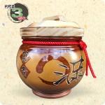 【頂級(吉利)】黃平光釉(O滿)(圓滿) | 約可裝 3 台斤米