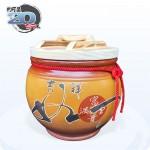 【頂級(吉利)】黃平光釉(吉祥如意) | 約裝 20 台斤米