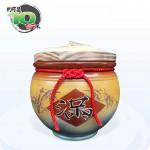 【頂級(吉利)】黃平光釉(滿竹滿足) | 約裝 10 台斤米