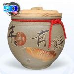 【頂級(吉利)】青斗砂釉(年年有餘) | 約裝 50 台斤米