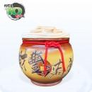頂級《吉利》黃色平光釉  10 台斤米甕[財豐滿庫]
