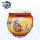 頂級《吉利》黃色平光釉  20 台斤米甕[財豐滿庫]