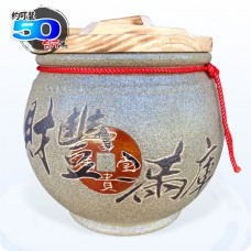 頂級《吉利》青斗砂釉  50 台斤米甕[財豐滿庫]