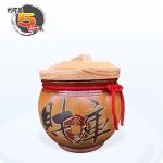 【頂級(吉利)】黃平光釉(財庫) | 約可裝 5 台斤米