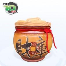 【頂級(吉利)】黃平光釉(財庫) | 約可裝 10 台斤米