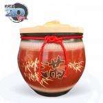 【上等】棗紅米甕(滿竹滿足) | 約可裝 20 台斤米