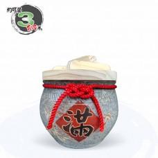 【上等】陶藝灰米甕(滿竹滿足) | 約可裝 3 台斤米