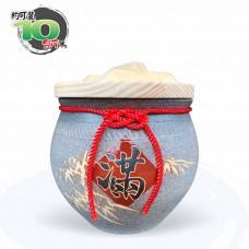 【上等】陶藝灰米甕(滿竹滿足)   約可裝 10 台斤米