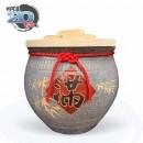 【上等】陶藝灰米甕(滿竹滿足) | 約可裝 20 台斤米