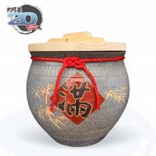 【上等】陶藝灰米甕(滿竹滿足)   約可裝 20 台斤米