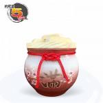 【上等】漸層紅米甕(美滿)(梅花滿) | 約可裝 5 台斤米