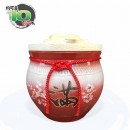 【上等】漸層紅米甕(美滿)(梅花滿) | 約可裝 10 台斤米