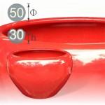 【水缸】玫瑰紅陶瓷水缸(也可當火爐)(直徑 50 公分)