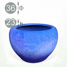 【水缸】藍色陶瓷水缸(也可當火爐)(約 36 x 23)