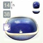【洗手盆】( 方 ) 藍流釉洗手盆