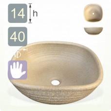 【洗手盆】( 方 ) 陶藝灰洗手盆