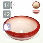 【洗手盆】( 圓 ) 漸層紅洗手盆